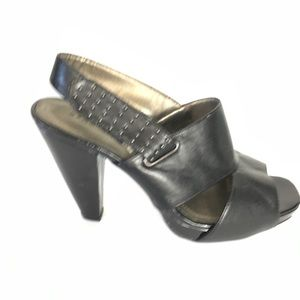 REPORT Black Heels Leather 7.5 M